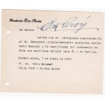 Eva Maria Duarte de Peron authentic signed note UACC AFTAL