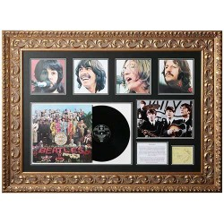 The Beatles authentic signed framed autograph photo montage