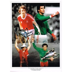 Trevor Francis Signed Football photo authentic autographM235