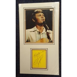Glen Campbell authentic signed autograph display OB200