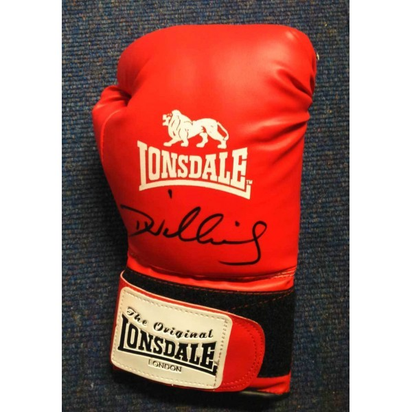 Danny Williams signed full size red Lonsdale boxing glove