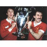 Phil Neal and Alan Kennedy Liverpool authentic signed photoM575