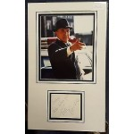 Telly Savalas Kojak authentic signed autograph display OB202