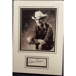 Dennis Weaver authentic signed autograph display OB232