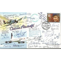 26 WW2 Hawker Typhoon fighter pilot aces signed Classic Aircraft cover AK89