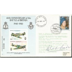 Douglas Bader WW2 fighter  ace signed 40th ann Battle of Britain cover WD152