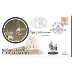 Bert Trautmann signed Benham 1998 Wembley venue of legends FDC WD68