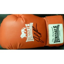 David Price signed full size red Lonsdale boxing glove
