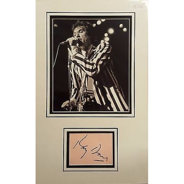 Ray Davies Kinks authentic signed autograph display OB206