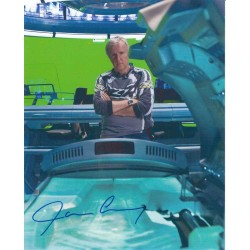 James Cameron signed 10 x 8 colour photo. Superb photo AK36