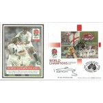 Sir Clive Woodward signed 2003 Rugby Benham official World Champions FDC WD93