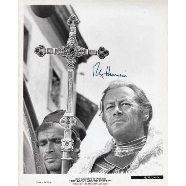 Rex Harrison signed photo from Agony and Ecstasy AK08