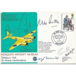 Sir Max Aitken rare Battle of Britain pilot autograph signed Mosquito cover AK97