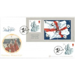 Terry Butcher signed Internetstamps official 2002 Football World Cup FDC WD61