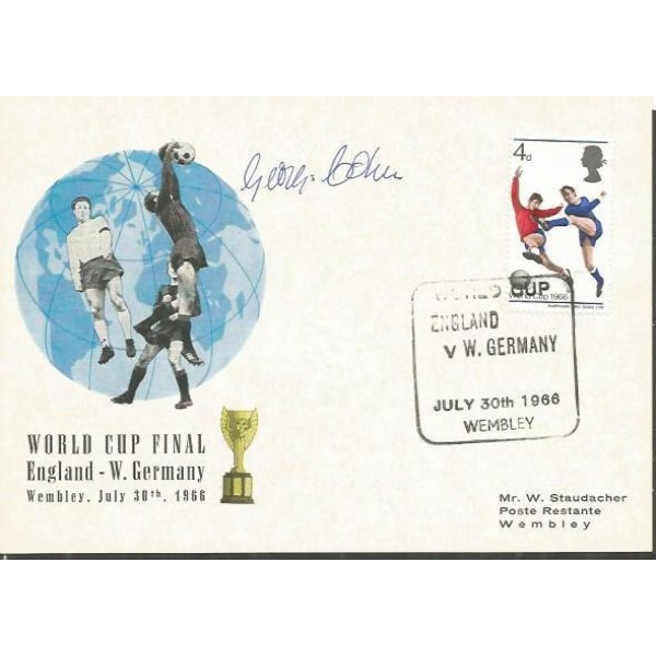 George Cohen signed World Cup Final 1966 card FDC WD76