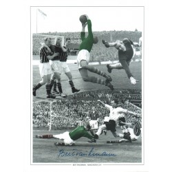 Bert Trautman Football hand signed authentic photo 2M567