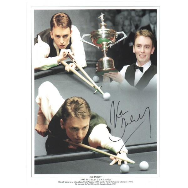 Ken Doherty signed genuine autographed snooker photo COAM598