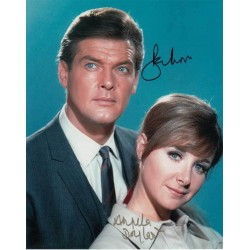 Roger Moore and Angela Douglas signed 10 x 8 colour photo AK17