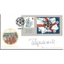 Terry Venables signed Internetstamps official 2002 Football World Cup FDC WD57