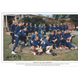 John Connelly 1966 Signed Football photo authentic autographM303