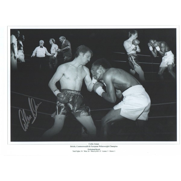 Colin Jones signed genuine autographed boxing photo COAM590