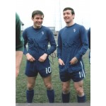 Chelsea Double Signed Football photo authentic autographM301