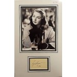 Ingrid Bergman authentic signed autograph display OB220