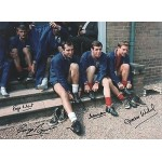 England 1966 Squad multisigned authentic football photoM571