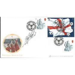 Kevin Keegan signed Internetstamps official 2002 Football World Cup FDC WD63
