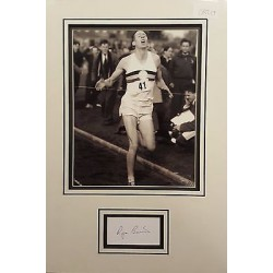 Roger Bannister authentic signed autograph display OB217