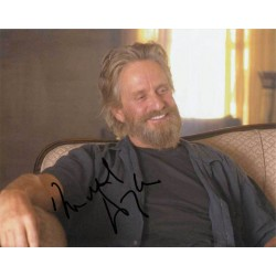Michael Douglas signed 10 x 8 colour photo. Superb photo AK38