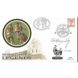 Pat Jennings signed Benham 1998 Wembley venue of legends FDC WD69