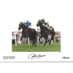 Willie Carson Flat Racing Jockey hand signed authentic photoM551