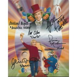 Willy Wonka and the Chocolate Factory Signed  ALL Five Kids with names AK133