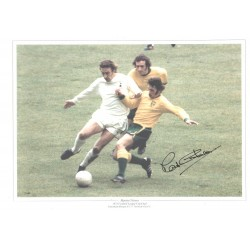 Martin Chivers Signed Football photo authentic autographM284