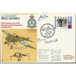 AVM R Johns Prince Charles flight instructor Fred West VC signed RAF cover AK93