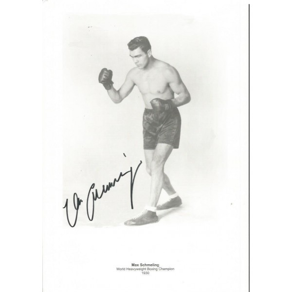 Max Schmelling 1930 World Boxing Champion signed 12 x 8 Boxing photo AK130