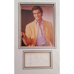 Ian Ogilvy The Saint authentic signed autograph display OB102