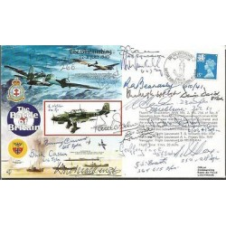 Nineteen Battle of Britain fighter pilots aces WW2 signed Skirmishing cover AK85