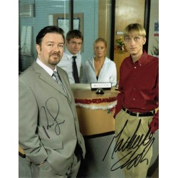 Office stars double signed 10 x 8 colour photo. Excellent AK19