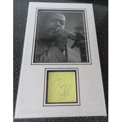 Barry White authentic signed genuine autograph photo display