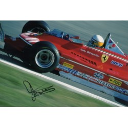 Jody Scheckter Ferrari F1 authentic signed genuine autograph photo
