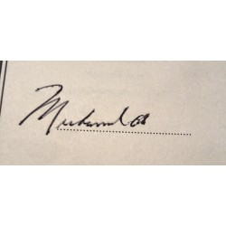 Muhammad Ali genuine authentic autograph signed signature book.