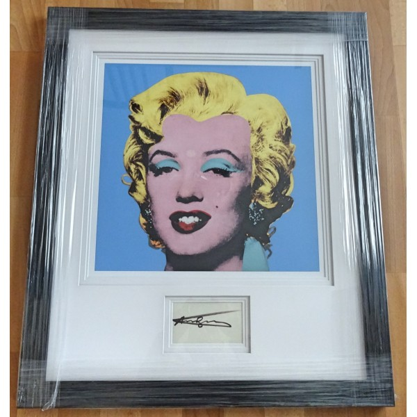 Andy Warhol Marilyn Monroe genuine signature authentic image display