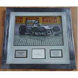 Lewis Hamilton F1 Mercedes signed genuine signature authentic photo display