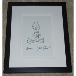 James Jimmy Stewart Harvey genuine signature authentic sketch display