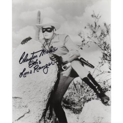 Clayton Moore Lone Ranger signed genuine signature authentic signed photo