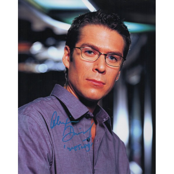 Alexis Denisof Buffy Angel genuine signed original genuine autograph authentic photo