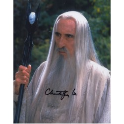 SOLD Christopher Lee Lord of the Rings Saruman genuine authentic autograph signed photo.