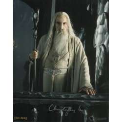 Christopher Lee Lord of the Rings Saruman genuine authentic autograph signed photo 4.